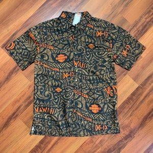 🚨🆕 Harley Davidson Hawaiian Dress Shirt